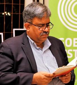 Aminur Rahman at the Goethe-Institute Dhaka (Photos: Aminur Rahman, Dhaka, and Edition Delta, Stuttgart)