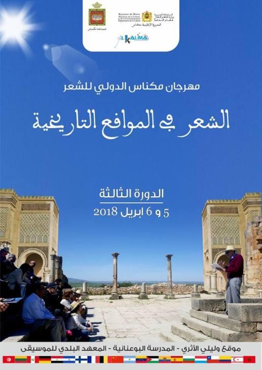 Festivalplakat Safi 2018 in Meknés und Volubilis. Foto: Rufino Haag
