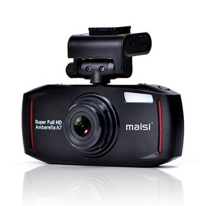 4 Mega-Pixel Car Recorder, MAISI® Full HD Color Car Black Box Dashboard Camcorder (2304*1296/30FPS, 2.7 Inch LCD 8x Digital Zoom, 150-Degree True Wide Vision Angle, Motion Detection, WDR Superior Quality Night Mode, 6-Glass Lens, Automatic Ignition/Motion/Crash Detection and Recording with G-sensor, One Button Audio Recording, Support Up To 64GB TF Card)