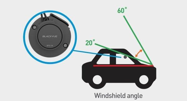 Blackvue BTC1A Windshield Angle