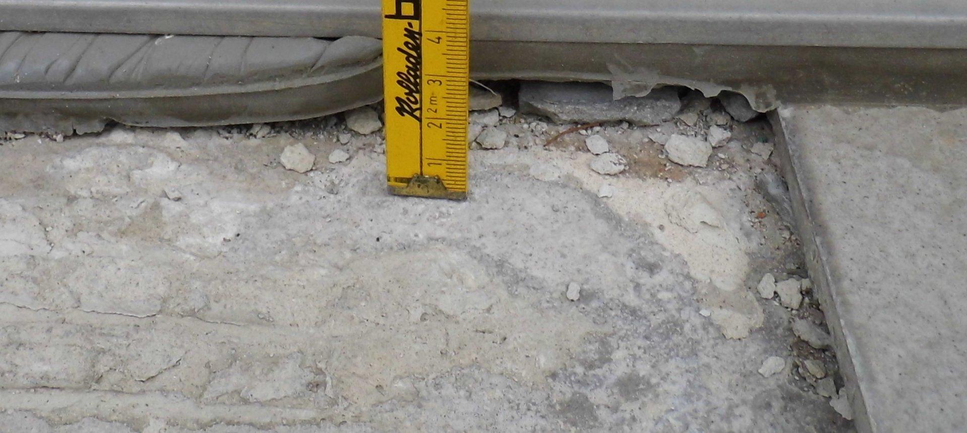 Fuge Zwischen Wand Und Terrassen-Betonplatte Abdichten