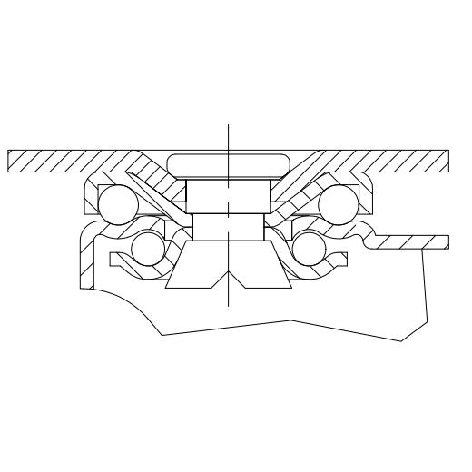 Light Duty TPE Rubber Tread Plastic Core Swivel Casters