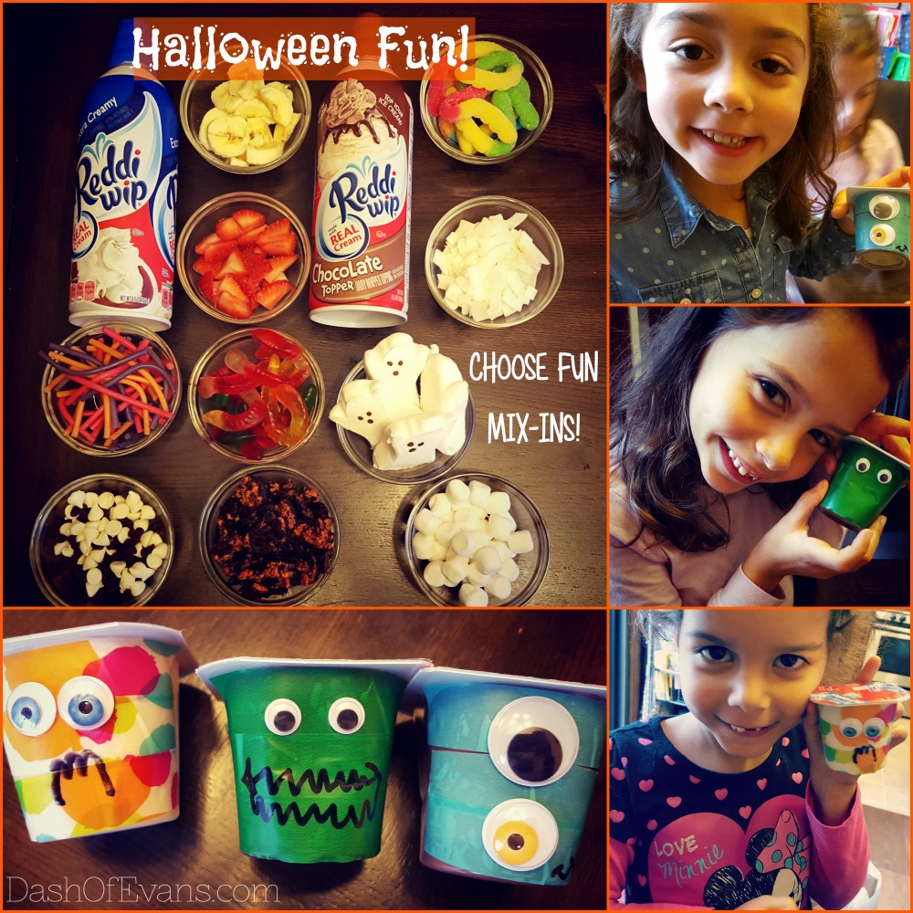 Perfect for Halloween parties: fun mix-ins and a Snack Pack craft! via @DashOfEvans