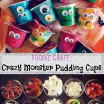 Fun Halloween Craft: Monster Pudding Cups