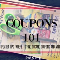 Coupons 101: Updated tips for 2015, plus where to find organic coupons and myth debunking! via @DashOfEvans