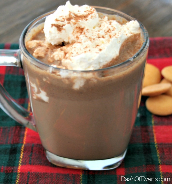 Just the hot chocolate recipe you've been searching for--simple, but oh-so chocolatey. Pin for later! |@dashofevans