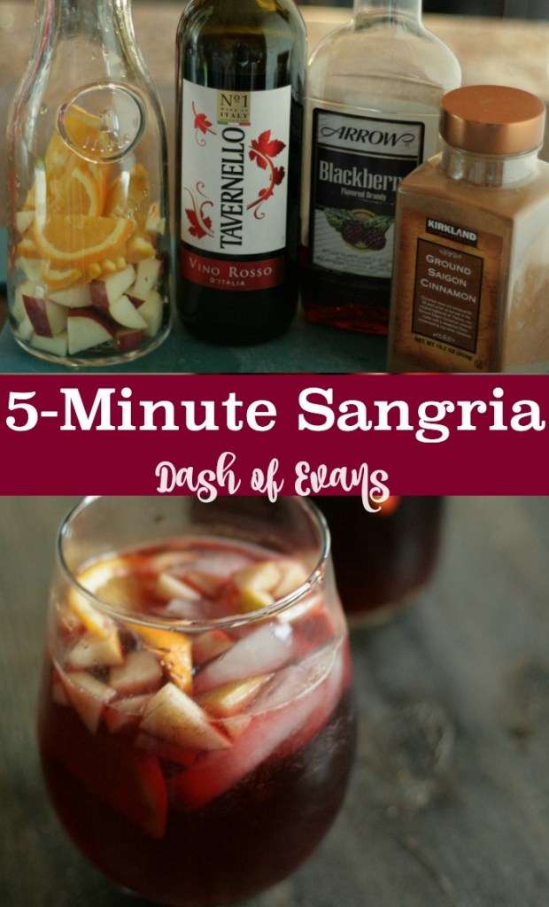 Everyone's party favorite: 5-Minute Sangria! • @DashOFEvans