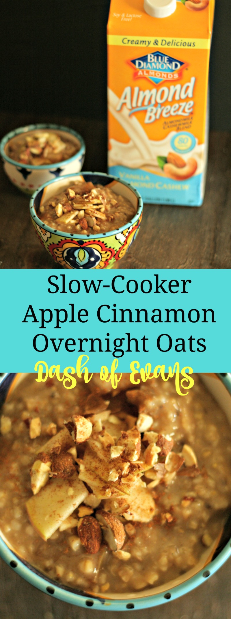 Make a batch of these slow-cooker overnight oats on a Sunday and have healthy breakfast all week! Top reheated oats with berries, nuts, honey or Greek yogurt! YUMMY!