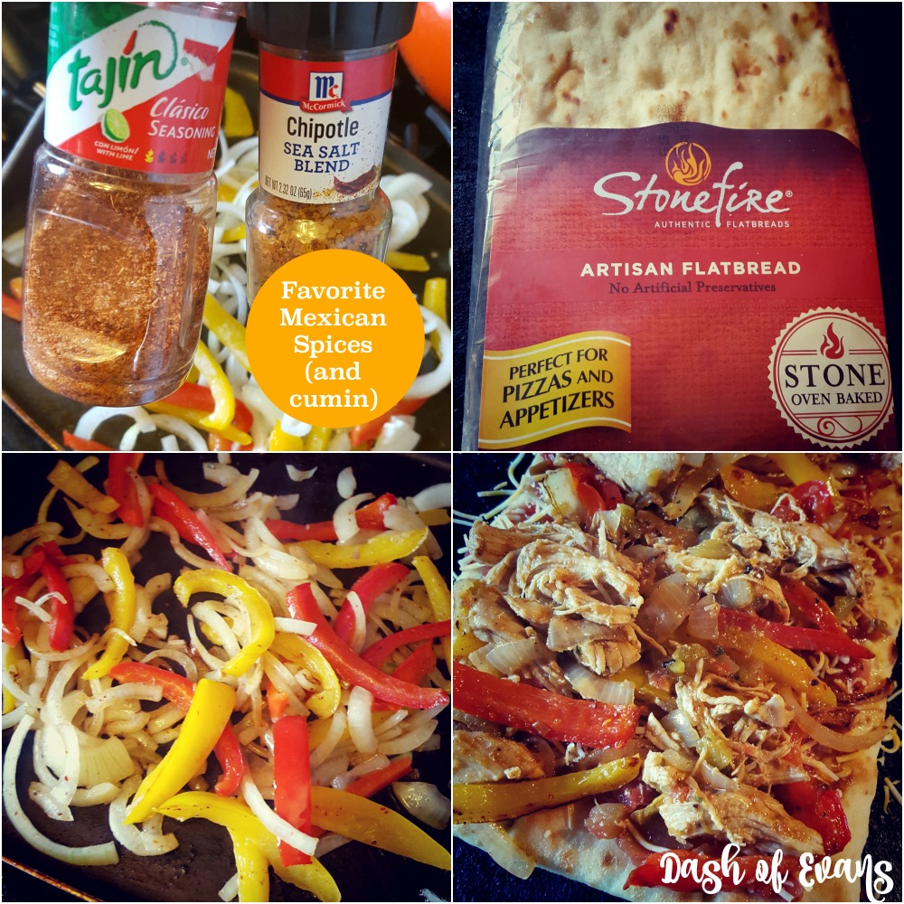 #PizzaFriday: Chicken Fajita Flatbread via @DashOfEvans