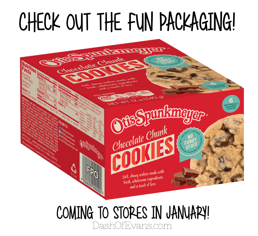New: Otis Spunkmeyer cookies and cakes are hitting stores in January 2016! #NationalCookieDay #NoFunkyStuff