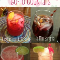 Go-To Cocktails for any occasion! Quick, budget friendly drinks that will wow any crowd! via @DashOfEvans