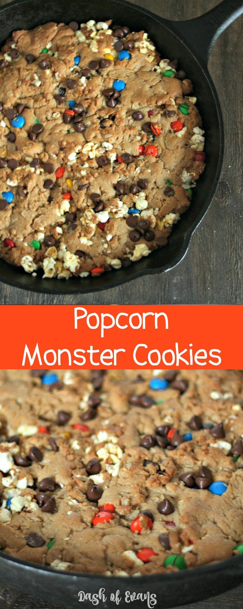 What makes monster cookies even better? POPCORN! #MakeItAMovieNight (ad)
