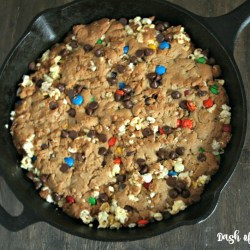 Popcorn Monster Skillet Cookies