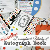 2016 Unofficial Disneyland Activity & Autograph book by @BusyMomsHelper