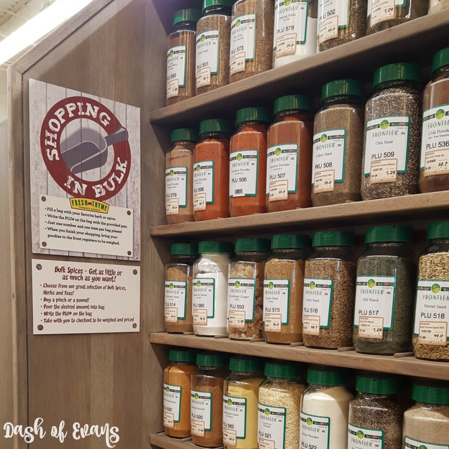 Be sure to browse the various bulk options at Fresh Thyme! Spices, grains, oils and more! @DashOfEvans