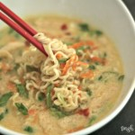 "Two favorites: egg drop soup and ramen noodles in one! My kids call it ""crazy noodle soup""! via @DashOfEvans"