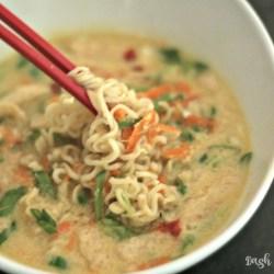 10-Minute Egg Drop Ramen Noodle Soup
