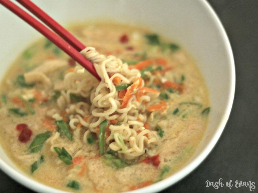 10 Minute Egg Drop Ramen Noodle Soup Dash Of Evans