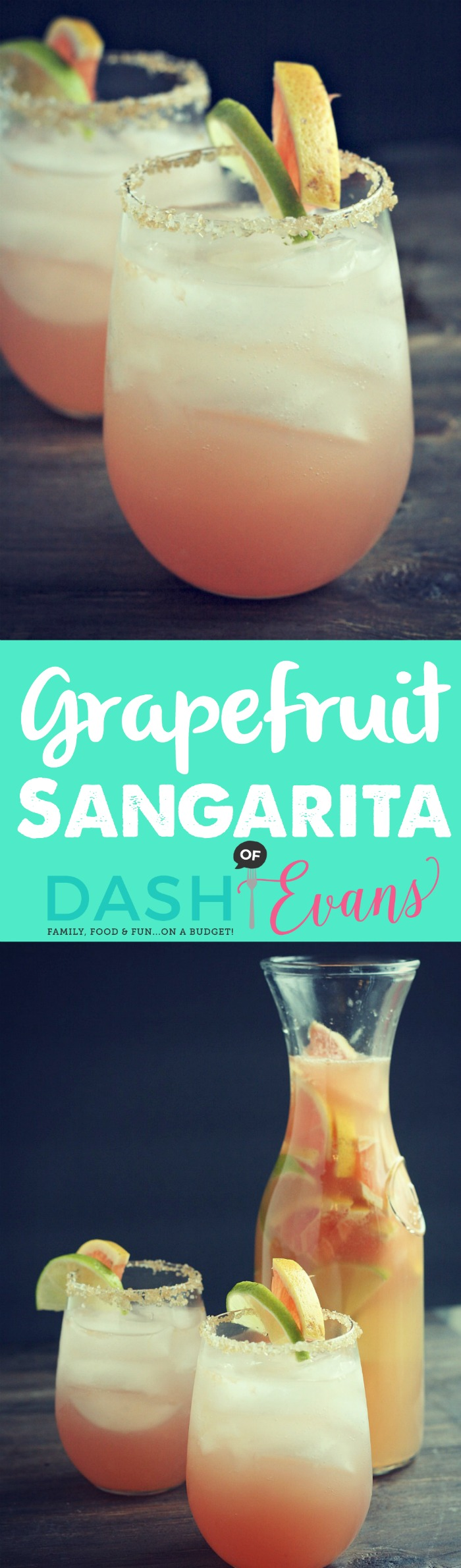 [Grapefruit Sangarita] Perfect pitcher cocktail for your next BBQ or brunch! Uses refreshing Indian River Select grapefruit juice, sweet white wine, tequila and more! via @DashofEvans