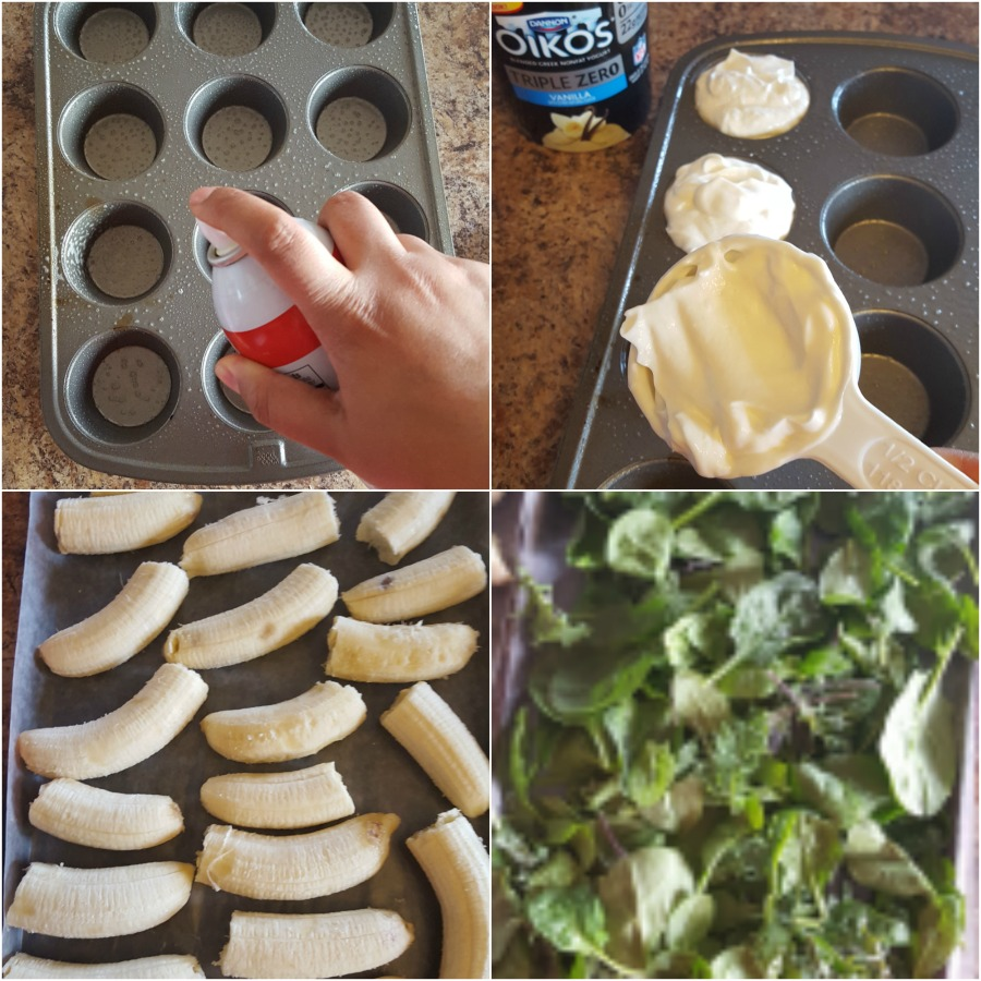 Sunday prep smoothie kits! Freeze bananas, yogurt and spinach/kale blend for weekday breakfasts in a snap! #MySmoothie (ad)
