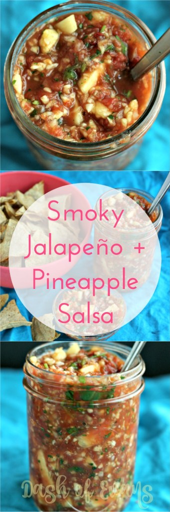 Craving some heat? Try this Jalapeño + Pineapple Salsa! Also: how to make baked chips for dipping! via @DashOfEvans