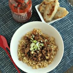 Korean Turkey Bowls with Brown Rice