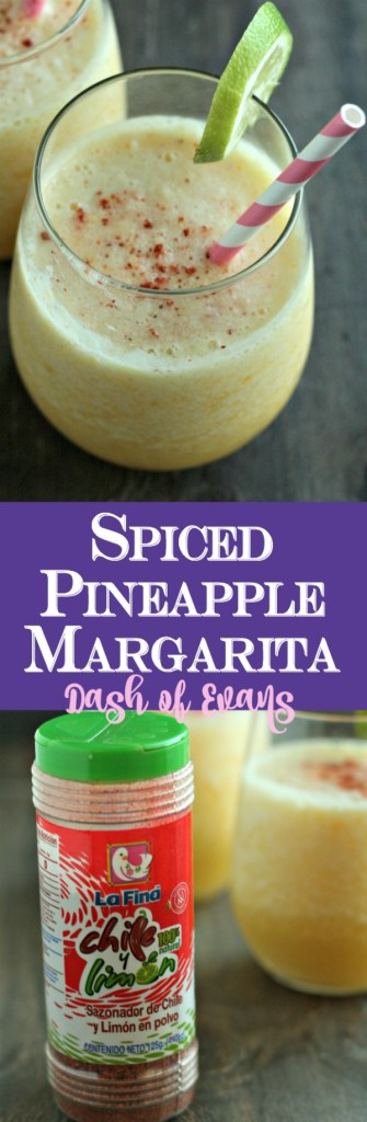 You HAVE to try this Spiced Pineapple Margarita! Using fresh fruit, lime juice and agave, it's a perfect summer treat! via @DashofEvans