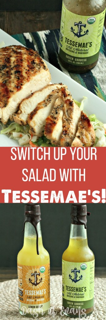 Tessemae's All Natural Dressing & Marinade is a tasty AND healthy way to switch up those salads! Plus...a flavorful marinade for meat! via @DashOfEvans