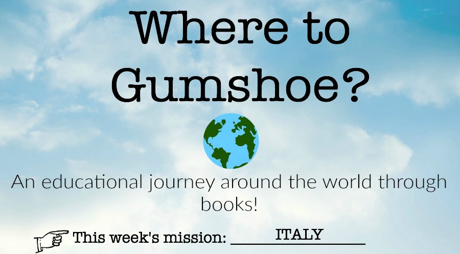 Follow along with us on our literary journey around the world this summer! First up: Italy. I wonder what we will learn and most important: what will we COOK? #WhereToGumshoe #Library #EarlyLiteracy