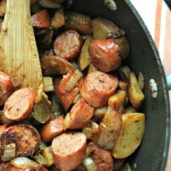 Easy Dinner: Turkey Smoked Sausage Skill...