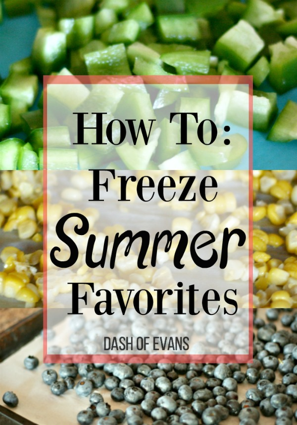 Make summer last all year round by freezing your favorites! via @DashOfEvans