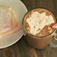Candy Cane Coffee. YUM! Who is excited for Gilmore Girls?! WE ARE! Check out my blog and Simply Whisked every week for Friday Night Dinner! We're cooking our way through the series.
