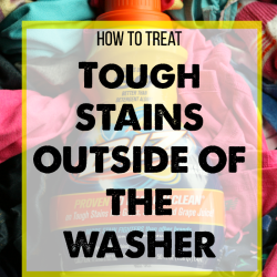 Laundry 101: Removing Tough Stains