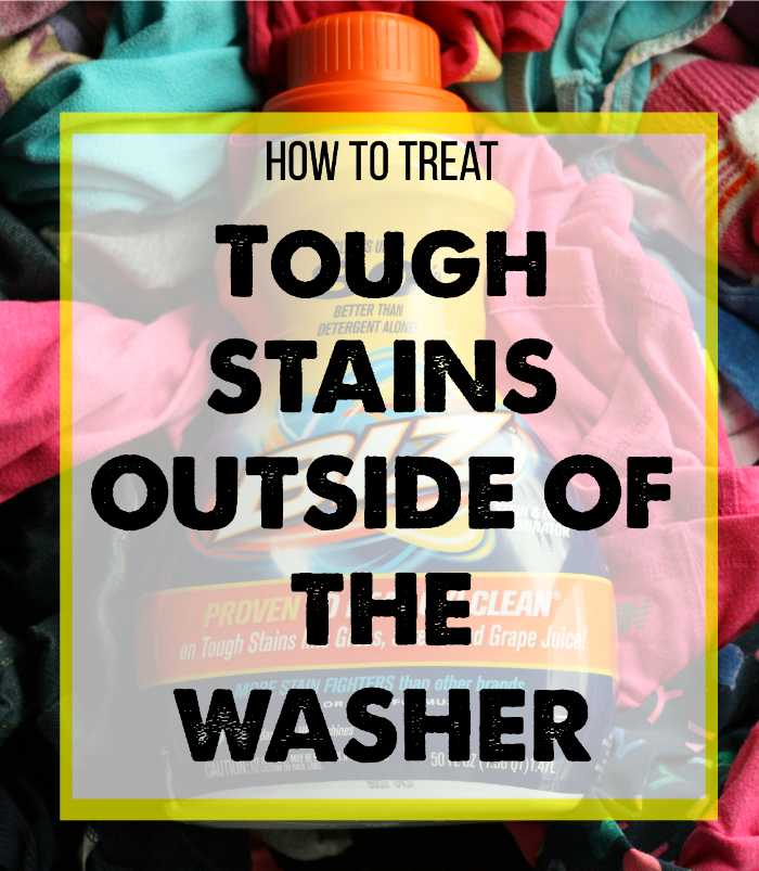 Laundry 101: How to Remove Tough Stains Outside of the Washer via @DashOfEvans