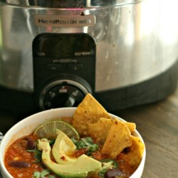 Slow-Cooker Turkey Taco Soup
