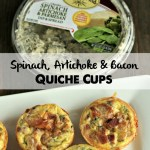 Holiday Party Appetizer: Mini Spinach Artichoke Quiche
