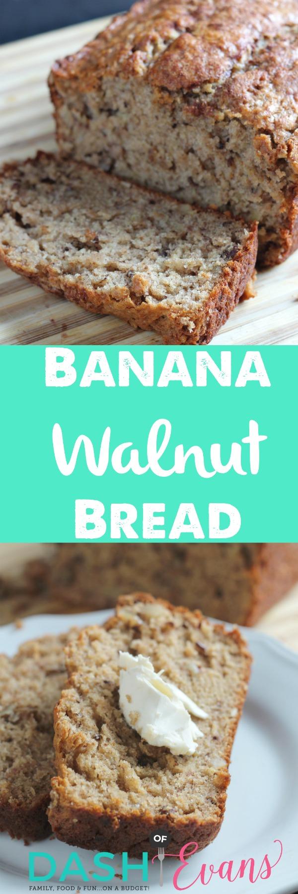 Delish Snack: Banana Walnut Bread with Greek Yogurt. YUM! via @DashOfEvans