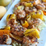 Blackened Shrimp Skewers with Coconut Ma...
