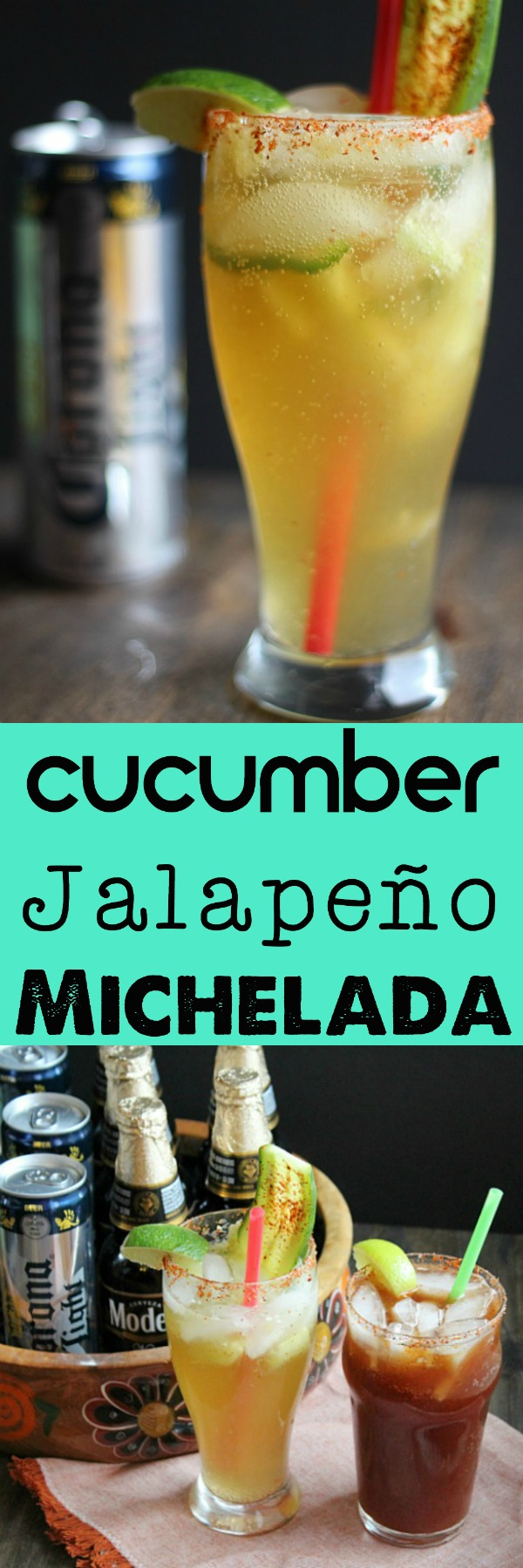 Who says Corona has to be for beaches and sand only? Try this Cucumber Jalapeño Michelada anytime! Delish! via @DashOfEvans #CervezaCelebration