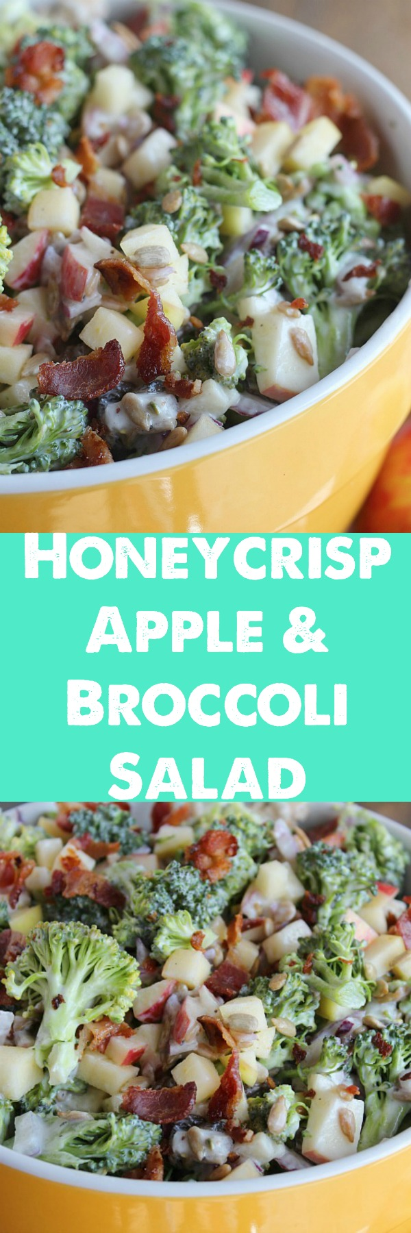 A summer classic...with a twist! Honeycrisp Apple & Broccoli Salad. Perfect for your next cookout! via @DashOfEvans #MiApples