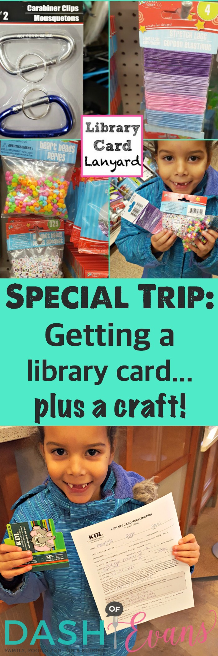 Looking for free fun for the kiddos? The library has SO much to offer! Check out this fun Dollar Tree lanyard craft too. Happy reading! via @Dashofevans