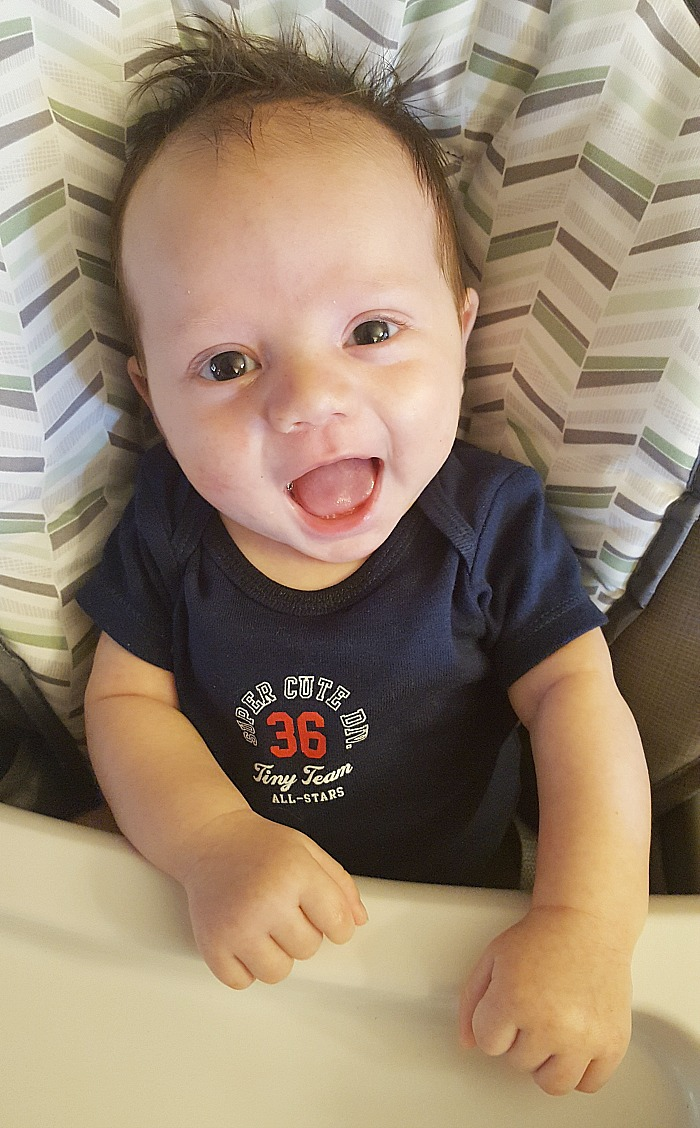 With a little one, the milestones are always so exciting to see. Check out what Liam is up to at 2 months! via @DashOfEvans #MilestoneMonday