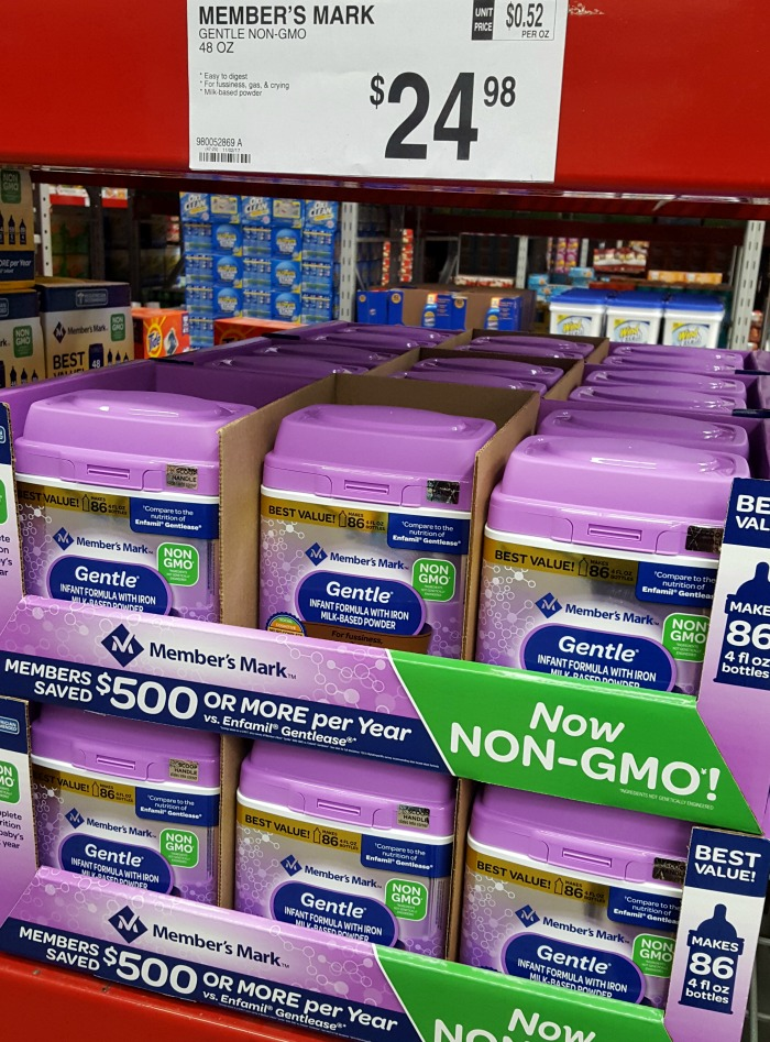 Did you know you can save over $450 by purchasing Member's Mark formula from Sam's Club? It's now Non-GMO, too! via @DashOfEvans