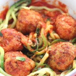 Air Fryer Turkey Meatballs with Green Gi...