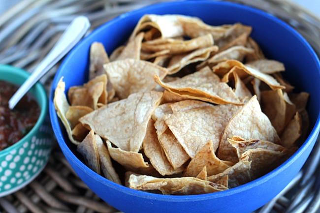 Crunchy Baked Tortilla Chips Dash Of Evans