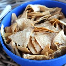 Crunchy Baked Tortilla Chips