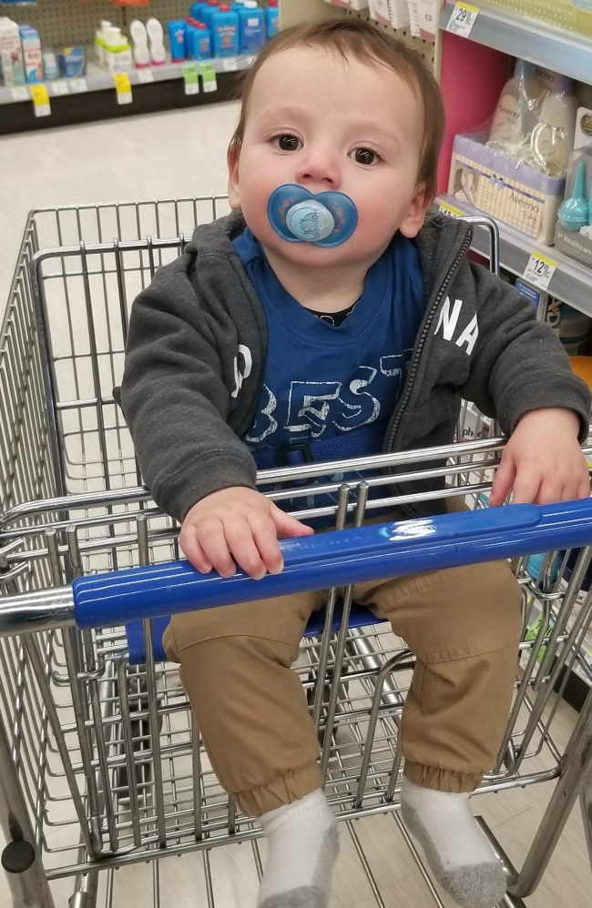 Nine month milestones are so fun--your little one is on the move and starting to have more of their own personality. Check out what LIam is up to! via @DashOfEvans