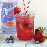 Berry Peach Gin Smash Cocktail