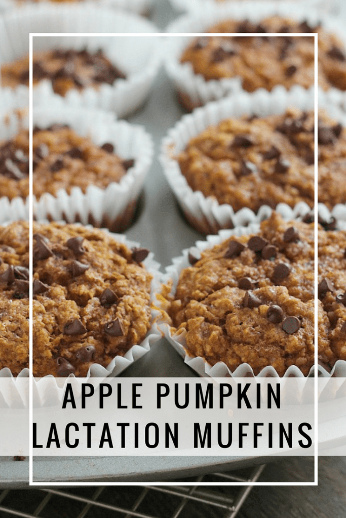 Looking for a delicious lactation booster for your milk supply? These Apple Pumpkin muffins are so easy, plus the little bit of chocolate chips on top is a great sweet treat. via @DashOfEvans