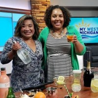 Easy Summer Cocktails on WZZM with @DashOfEvans - featuring a Peach Mule, Aperol Spritz and Citrus Prosecco Punch! YUM!